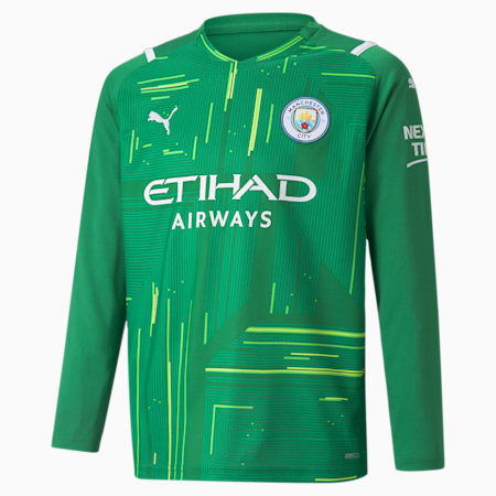 Man City Goalkeeper Replica Long Sleeve Youth Jersey, Amazon Green-Green Gecko, small-GBR