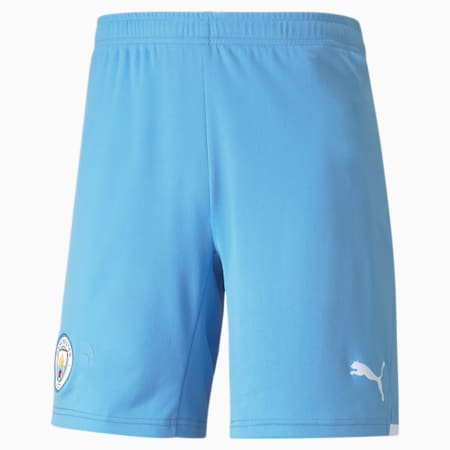 Man City Replica Men's Football Shorts 21/22, Team Light Blue-Puma White, small