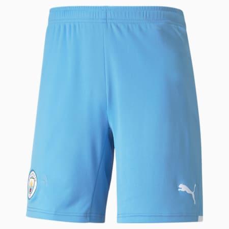 Man City Replica Men's Football Shorts 21/22, Team Light Blue-Puma White, small-SEA