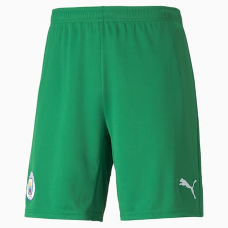 Man City Goalkeeper Replica Men's Football Shorts, Amazon Green-Puma White, small