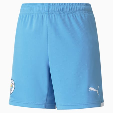 Manchester City Kid's Replica Shorts, Team Light Blue-Puma White, small-IND