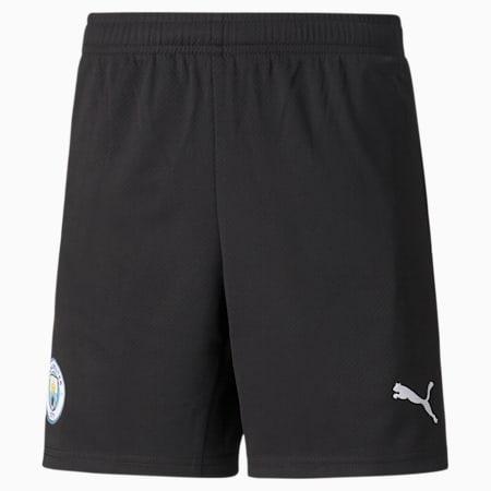 Man City Goalkeeper Replica Youth Football Shorts, Puma Black-Puma White, small-GBR
