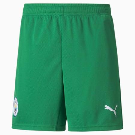 Man City Goalkeeper Replica Youth Football Shorts, Amazon Green-Puma White, small-GBR