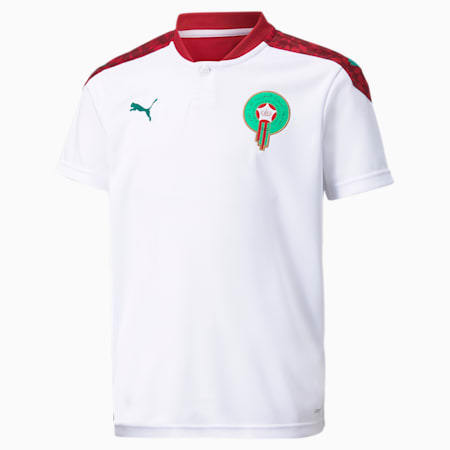 Morocco Away Replica Youth Jersey, Puma White-Pepper Green, small