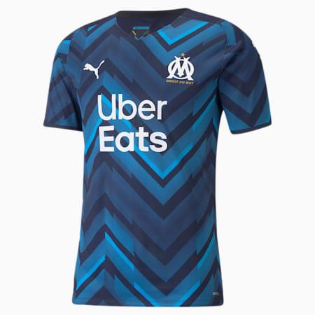 Camiseta auténtica de la segunda equipación del OM para hombre 21/22, Peacoat-Bleu Azur, small