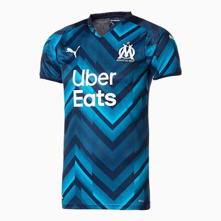 オリンピック マルセイユ OM アウェイ 半袖 レプリカ シャツ, Peacoat-Bleu Azur, small-JPN