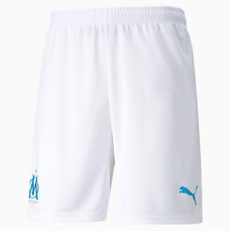 OM Replica Hommes Shorts de Football 21/22, Puma White-Bleu Azur, small