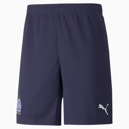 OM Replica Men's Football Shorts, Peacoat-Puma White, small