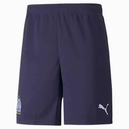 Shorts de fútbol para hombre réplica del OM 21/22, Peacoat-Puma White, small