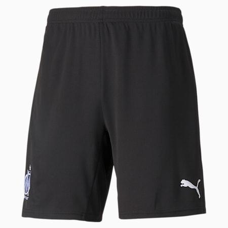OM Replica Men's Goalkeeper Football Shorts, Puma Black-Puma White, small
