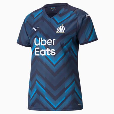 Camiseta réplica de la segunda equipación del OM para mujer 21/22, Peacoat-Bleu Azur, small
