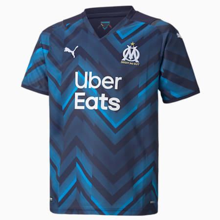 Młodzieżowa replika koszulki wyjazdowej OM 21/22, Peacoat-Bleu Azur, small