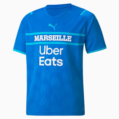 OM Replica derde shirt voor jongeren 21/22, Electric Blue Lemonade-Blue Atoll, small