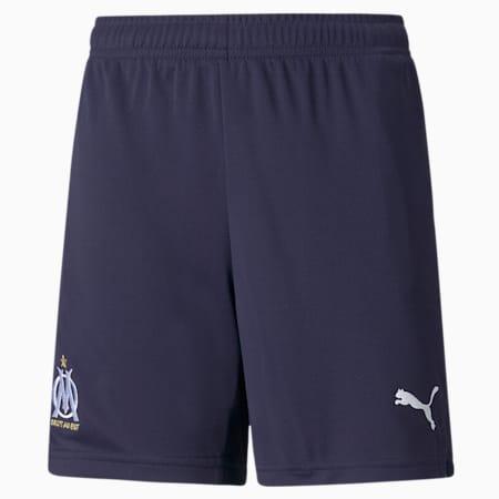 Shorts de fútbol juveniles réplica del OM 21/22, Peacoat-Puma White, small