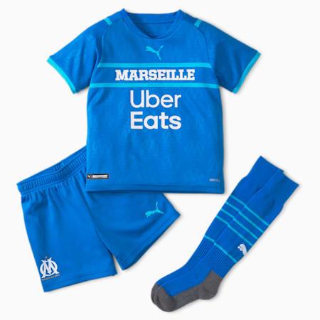 OM Third Youth Football Mini Kit 21/22, Electric Blue Lemonade-Blue Atoll, small