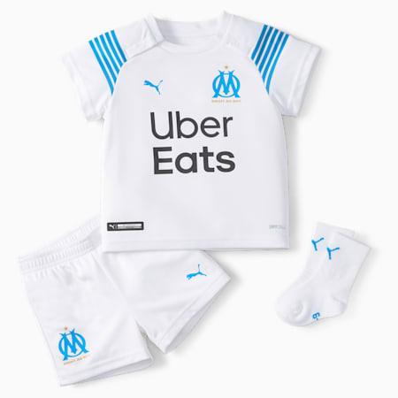 OM Home Babies' Football Kit, Puma White-Bleu Azur, small