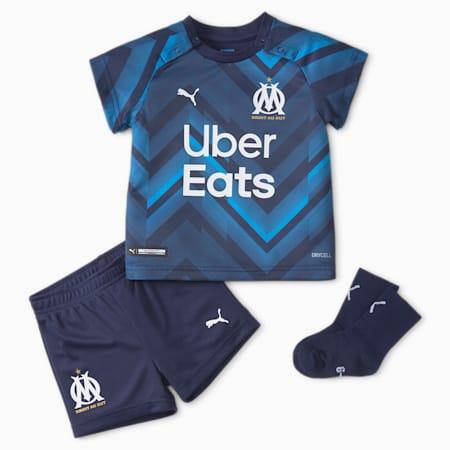 Kit de football OM Away pour bébés 21/22, Peacoat-Bleu Azur, small