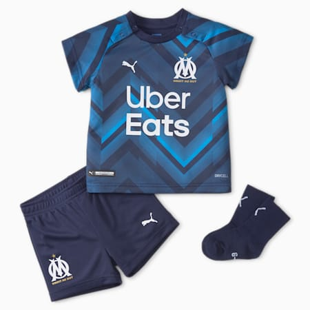 OM Away Babies' Football Kit 21/22, Peacoat-Bleu Azur, small-GBR