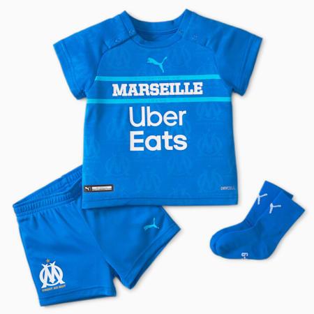 OM Third Babies' Football Kit 21/22, Electric Blue Lemonade-Blue Atoll, small-GBR