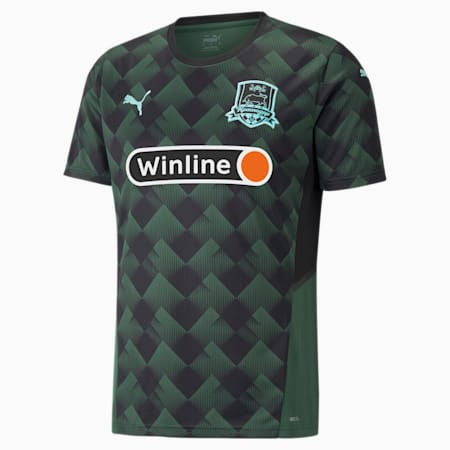 FC Krasnodar Home Replica Men's Jersey, Dark Green-ARUBA BLUE, small