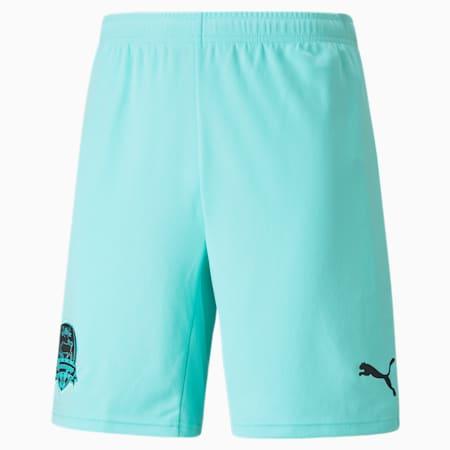 FC Krasnodar Replica Men's Football Shorts, ARUBA BLUE-Puma Black, small