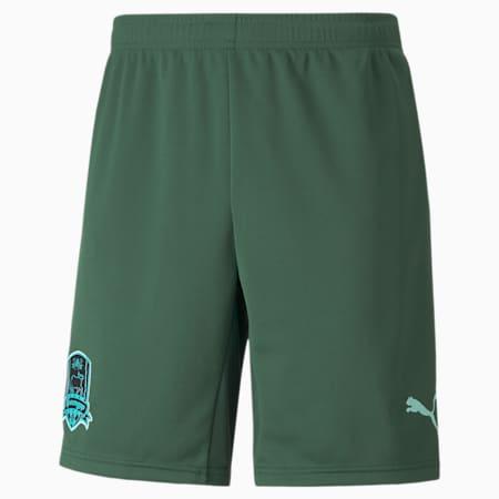 FC Krasnodar Replica Men's Football Shorts, Dark Green-ARUBA BLUE, small