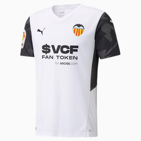 Valencia CF Home Replica Men's Jersey 21/22, Puma White-Puma Black, small