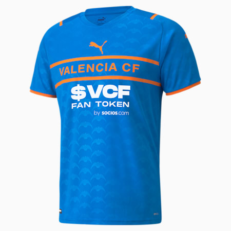 Valencia CF Third Replica Men's Jersey 21/22, Electric Blue Lemonade-Vibrant Orange, small