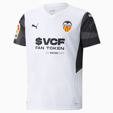 Camiseta juvenil réplica de la 1.ª equipación del Valencia CF 21/22, Puma White-Puma Black, small