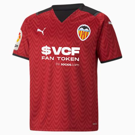 Valencia CF Away Replica Youth Jersey, Rio Red-Puma Black, small