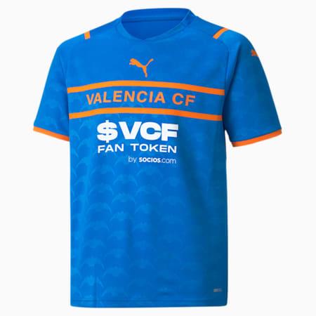 Valencia CF Third Replica Youth Jersey 21/22, Electric Blue Lemonade-Vibrant Orange, small