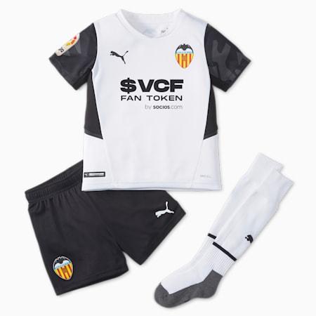 Minikit juvenil de fútbol de la 1.ª equipación del Valencia CF 21/22, Puma White-Puma Black, small