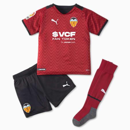 Valencia CF Away Youth Football Mini Kit 21/22, Rio Red-Puma Black, small
