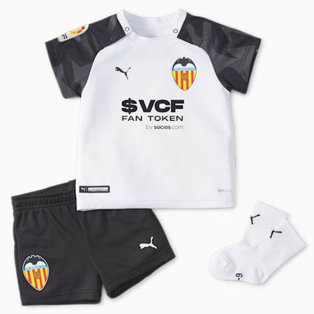 Valencia CF Home Babies' Football Mini Kit 21/22, Puma White-Puma Black, small