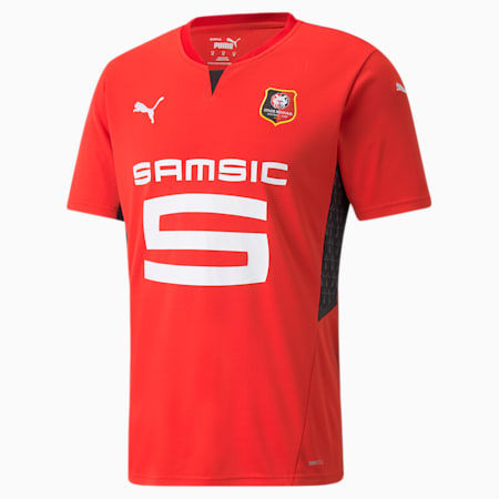 Camiseta para hombre réplica de la primera equipación del Stade Rennais, Puma Red-Puma Black, small