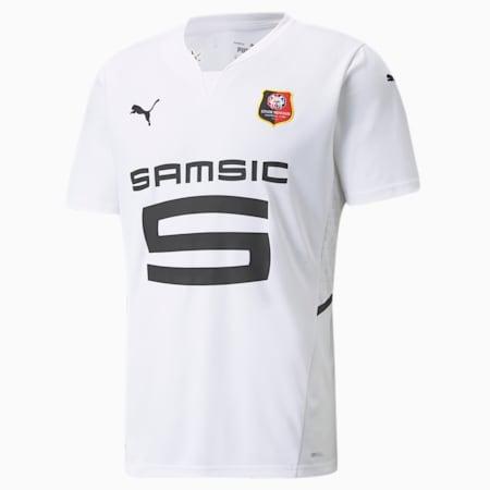 Stade Rennais/Rennes Away Replica Men's  Jersey, Puma White-Puma Black, small