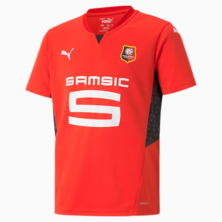 Stade Rennais Home Replica Youth Jersey, Puma Red-Puma Black, small