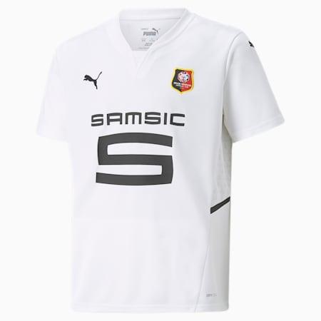 Stade Rennais Away Replica Youth Jersey, Puma White-Puma Black, small