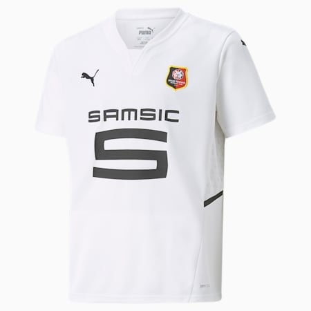 Stade Rennais Away Replica Youth Jersey, Puma White-Puma Black, small-GBR