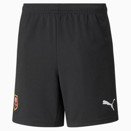 Stade Rennais Replica Youth Football Shorts, Puma Black-Puma White, small-GBR