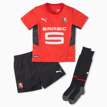 Młodzieżowy piłkarski strój domowy Stade Rennais, Puma Red-Puma Black, small
