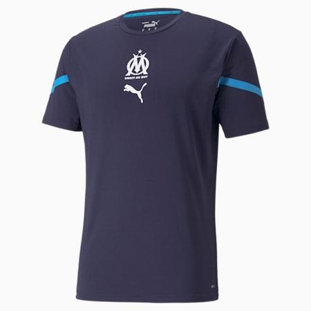 OM Prematch Men's Jersey, Peacoat-Bleu Azur, small
