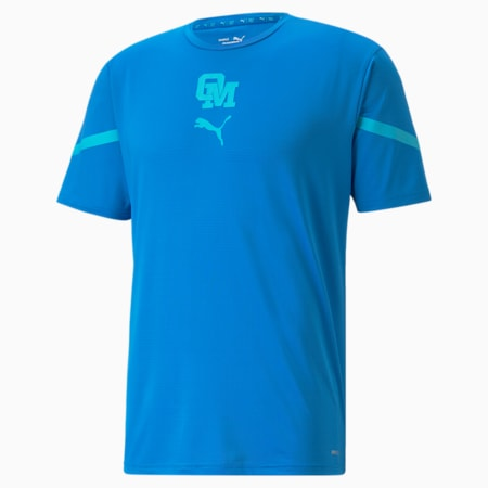 OM Prematch sporttrui voor heren, Electric Blue Lemonade-Blue Atoll, small