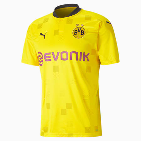 BVB Cup Men's Replica Jersey, Cyber Yellow-Puma Black, small