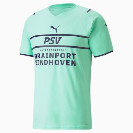 Męska replika dodatkowej koszulki PSV 21/22, Green Glimmer-Astral Aura, small