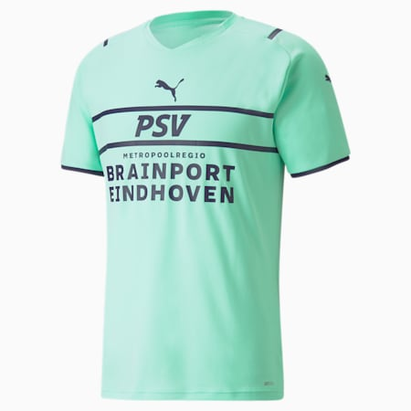 Maillot PSV Third Replica homme 21/22, Green Glimmer-Astral Aura, small