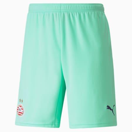 Shorts de fútbol réplica de la tercera equipación del PSV para hombre 21/22, Green Glimmer-Astral Aura, small