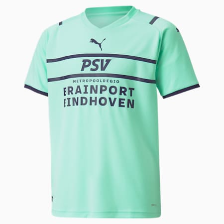 PSV Third Replica Youth Jersey 21/22, Green Glimmer-Astral Aura, small-GBR