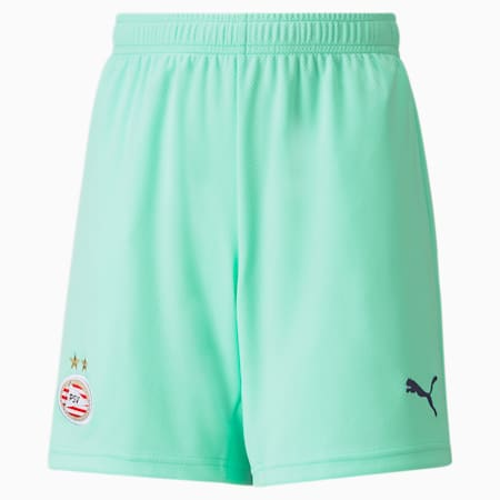 PSV Third Replica Youth Football Shorts 21/22, Green Glimmer-Astral Aura, small-GBR