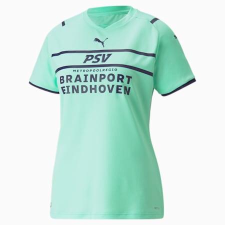 Camiseta réplica de la tercera equipación del PSV para mujer 21/22, Green Glimmer-Astral Aura, small